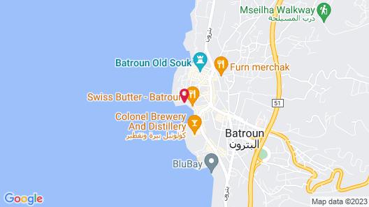 Batroun Bahsa Bay Map