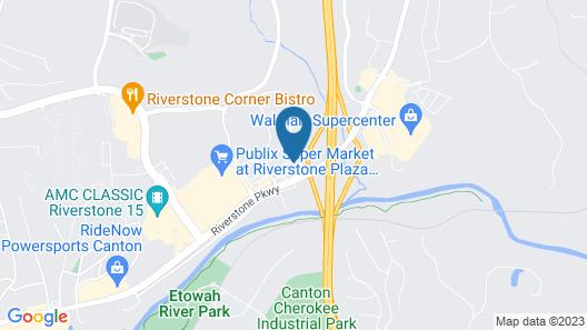 Hampton Inn Atlanta-Canton Map
