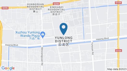 Hilton Garden Inn Xuzhou, China Map