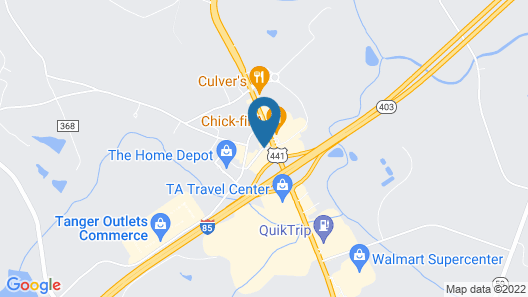 Motel 6 Commerce, GA Map