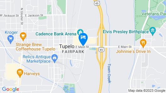 Hilton Garden Inn Tupelo, MS Map