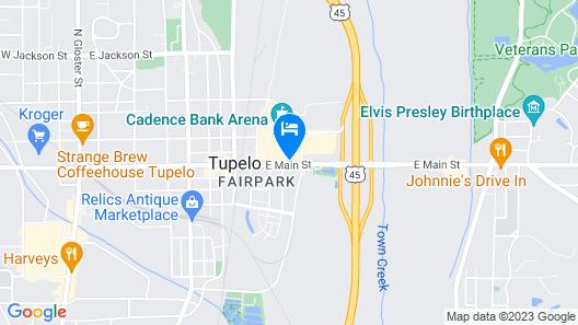 Hilton Garden Inn Tupelo Map