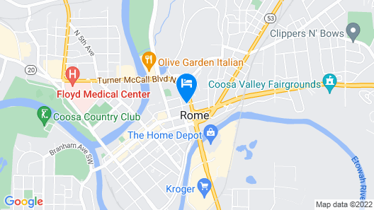 Hampton Inn & Suites Rome Map