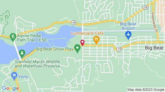 Motel 6 Big Bear Lake, CA Map