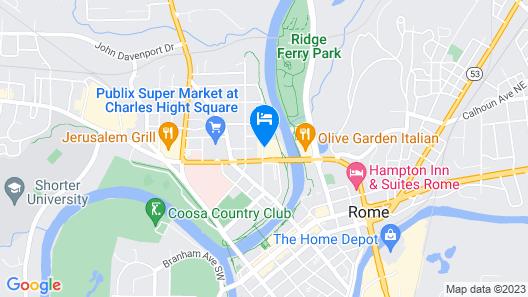 OYO Hotel Rome GA Historic District Map