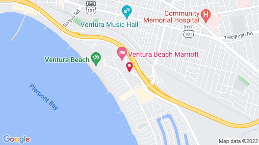 Motel 6 Ventura, CA - Beach Map