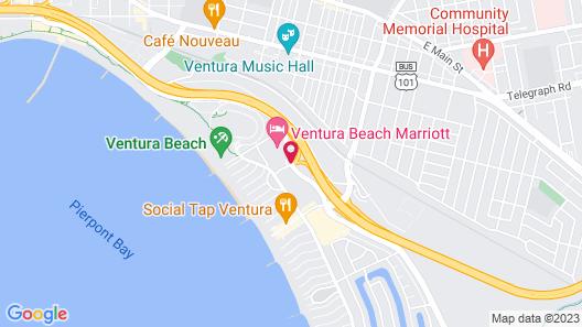 Comfort Inn & Suites Ventura Beach Map