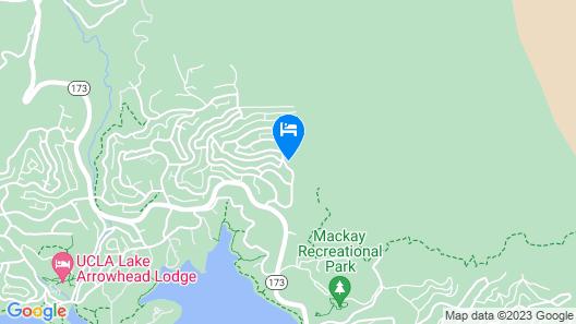 Hilltop Home W/lake Arrowhead View & Hot Tub! Map
