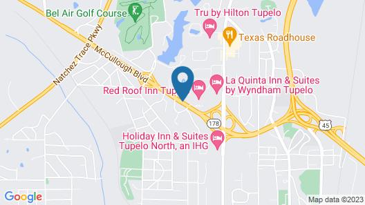 Red Roof Inn Tupelo Map