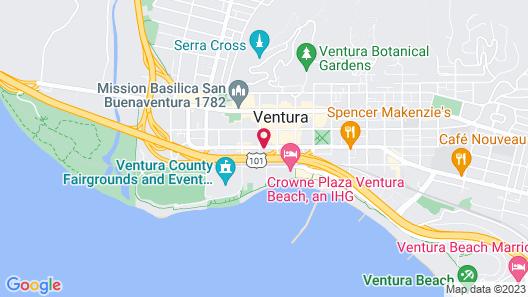 Motel 6 Ventura, CA - Downtown Map