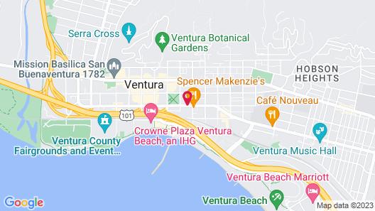 Vagabond Inn Ventura Map