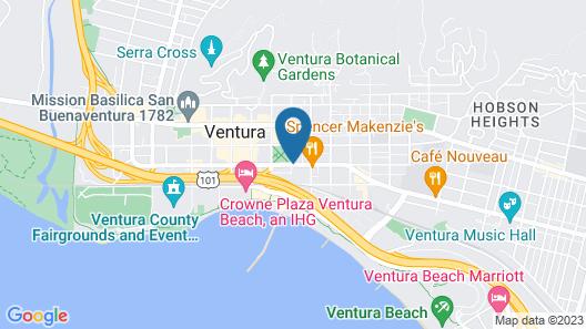 Best Western Plus Inn of Ventura Map