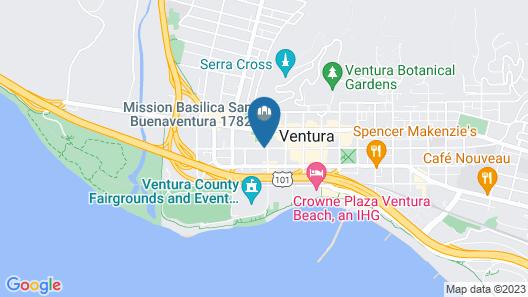 Clocktower Inn Ventura Map
