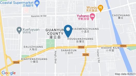GreenTree Inn Lianyungang Guanyun Wenzhou Shangmaocheng Express Hotel Map
