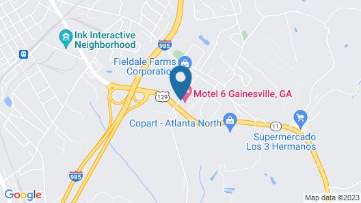 Motel 6 Gainesville, GA Map