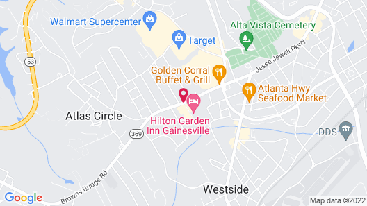 Fairfield Inn and Suites Gainesville Map