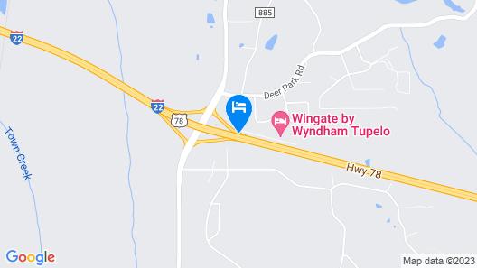 Wingate by Wyndham Tupelo Map