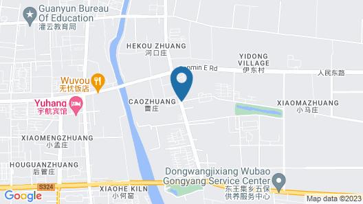 Greentree Inn Lianyungang Guanyun Bus Station Zhen Map