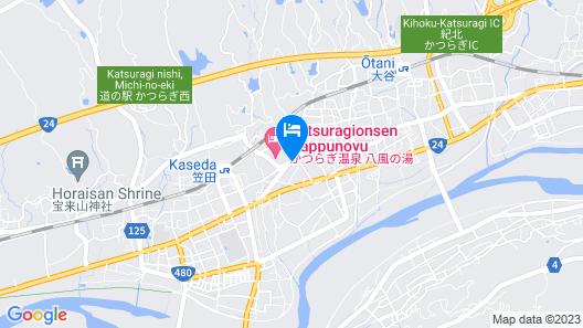 Katsuragi Onsen Happu-no-yu Map