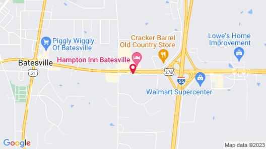 Holiday Inn Batesville Map
