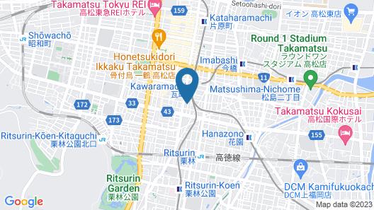 Alphabed Takamatsu Kawaramachi Map
