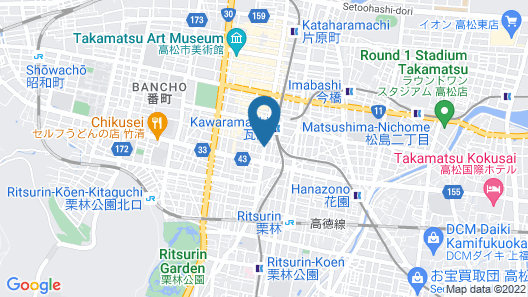 Alphabed Takamatsu Kawaramachi WEST Map