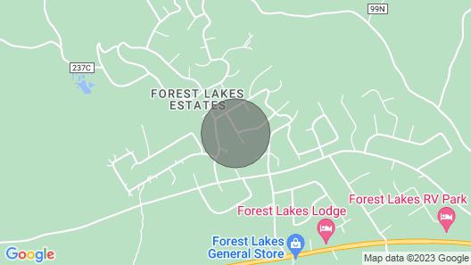 Forest Lakes, AZ. Cabin Rental Map