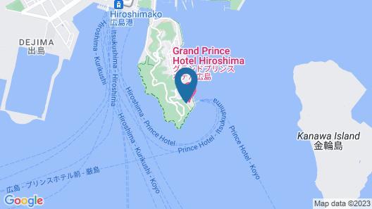 Grand Prince Hotel Hiroshima Map