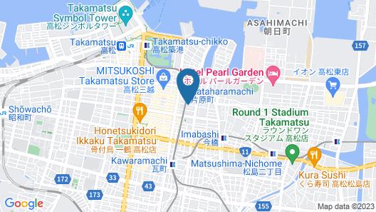 Alphabed Takamatsu Hyakenmachi Map