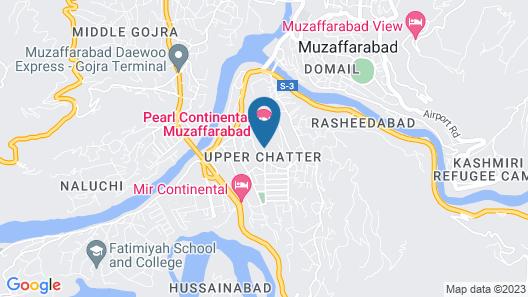 Pearl Continental Hotel Muzaffarabad Map