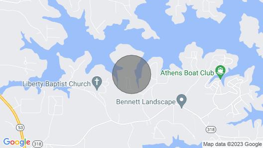 Waterfront Home on Lake Lanier W/dock + Slip! Map