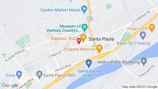 Santa Paula Inn Map