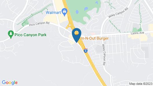 Hampton Inn Los Angeles-Santa Clarita Map