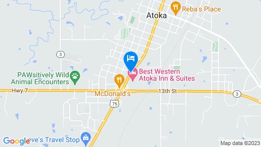 Best Western Atoka Inn & Suites Map