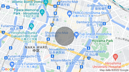 R71 5mins Walk The Center Of Hiroshima City #701 Map