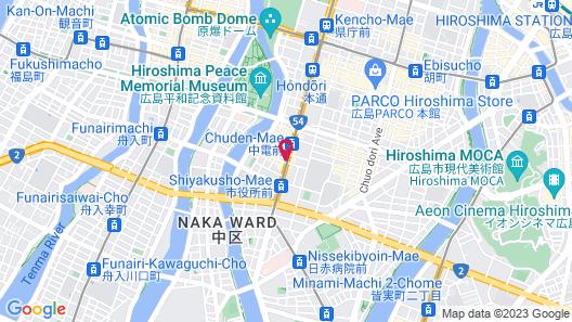 Comfort Hotel Hiroshima Otemachi Map