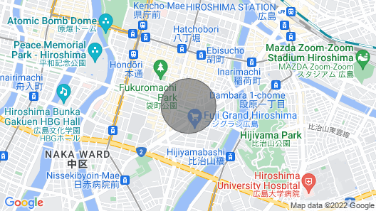 Bhotel501 Huge Apt Famous Hiroshima Dori for 6ppl Map