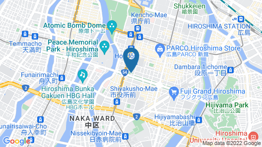 Crowne Plaza ANA Hiroshima Map