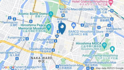 Hotel Hokke Club Hiroshima Map