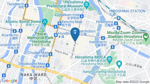 Hiroshima Washington Hotel Map