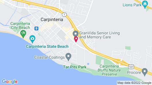 Motel 6 Carpinteria, CA - Santa Barbara - South Map