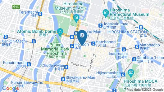 Hiroshima Kokusai Hotel Map