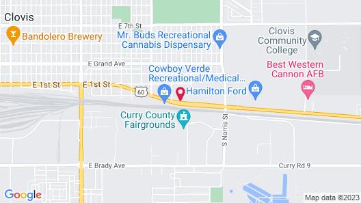 Motel 6 Clovis, NM Map