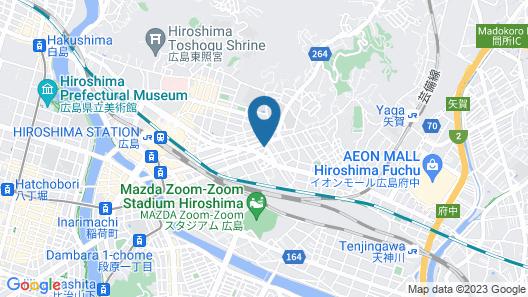 GRAND BASE Hiroshima Ekimae Map
