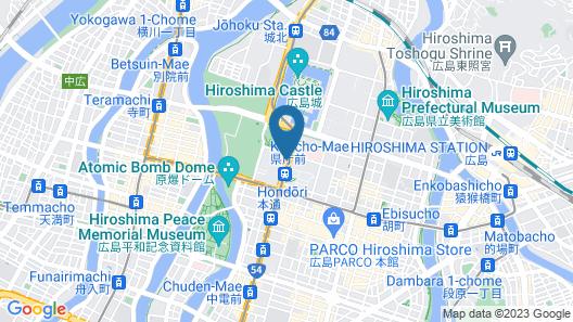 RIHGA Royal Hotel Hiroshima Map