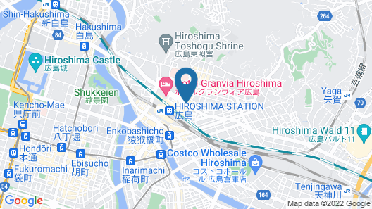 Sheraton Grand Hiroshima Hotel Map