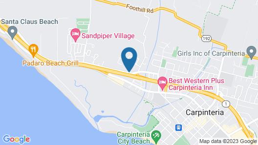 Motel 6 Carpinteria, CA - Santa Barbara - North Map