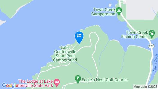 Lake Guntersville State Park RRM Cabins Map