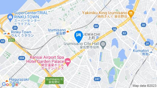 Bellevue Garden Hotel Kansai International Airport Map