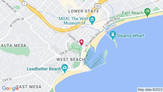 Castillo Inn at the Beach Map